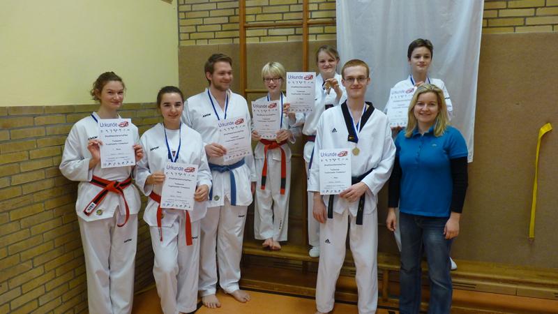 Erfolgreiches Taekwondoteam des SSK-Kerpen